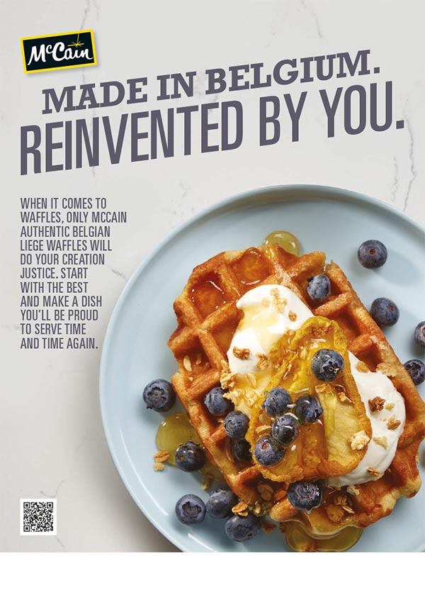 Waffle Serving Suggestion Brochure