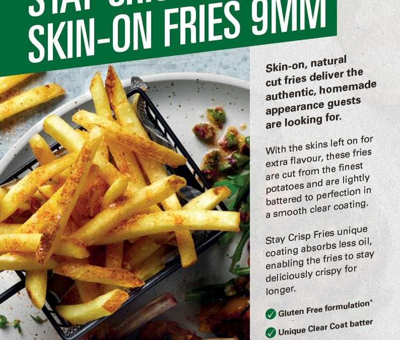 McCain Stay Crisp Skin-On Fries 9mm