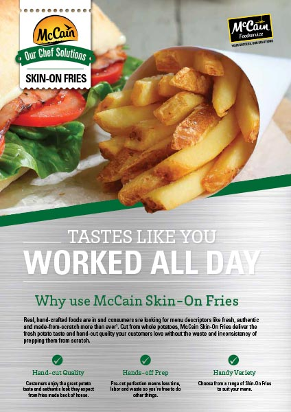 McCain Skin On Fries Brochure